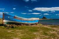 Lindisfarne Boat and Castle.