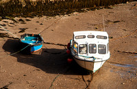 Lynmouth Boats at Low Tide.